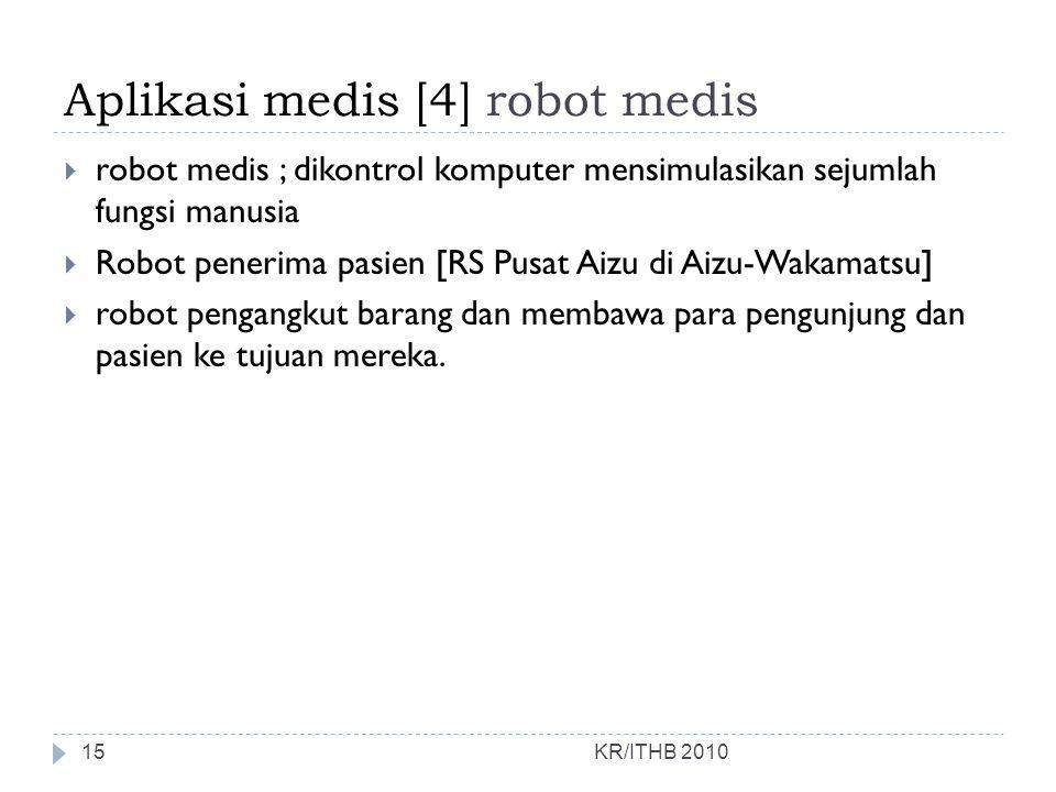 Aplikasi medis [4] robot medis